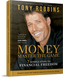 Picture of author Tony Robins set on book test on book reads Money master the game